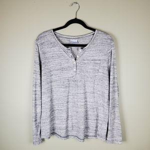 Columbia Heathered Grey Long Sleeve Top L
